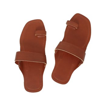Red Brown  leather shoe women