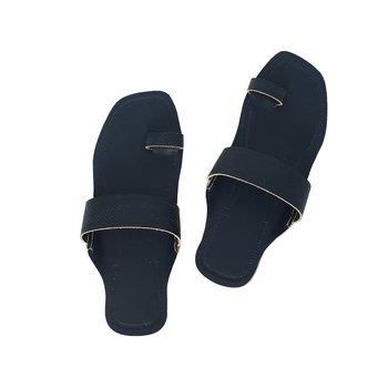 Dark Blue  leather shoe women