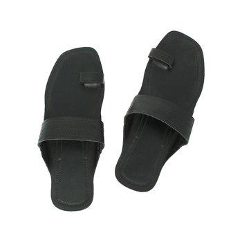 Black leather shoe women
