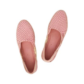 pink leather shoe women