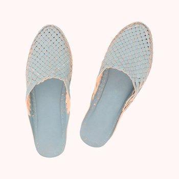 Sky Blue leather shoe women