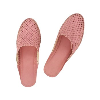 pink leather shoe women