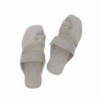 Grey leather shoe women