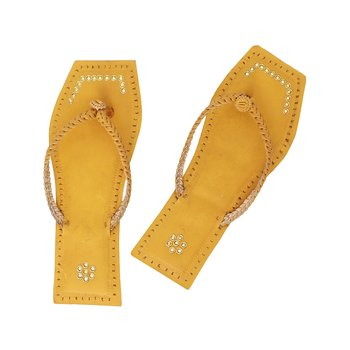 Dark Yellow Women Sandals