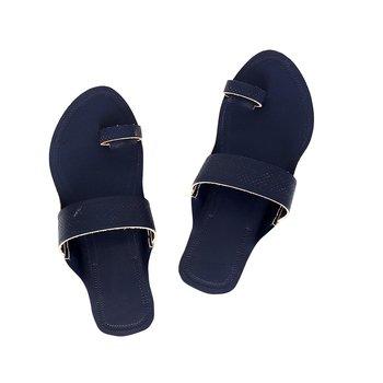 Dark Blue Women Sandals