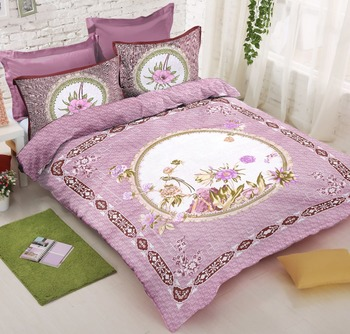 multicolor Heavy Designer KING SIZE Bedsheet With 2 Pillow Covers