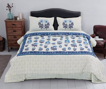 multicolor Heavy Designer KING SIZE Bedsheet With 2 Pillow Covers (108*100)