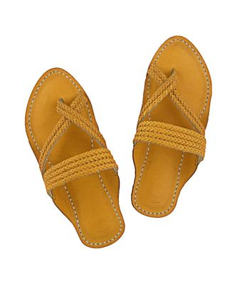 Dark Yellow  men shoe