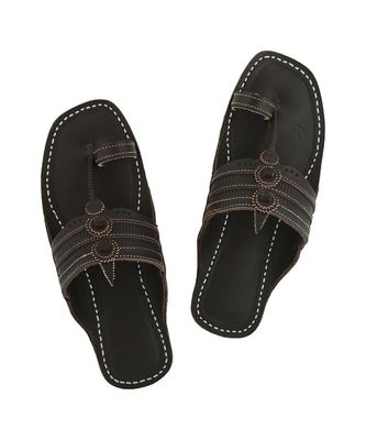 brownMens Leather Chappal