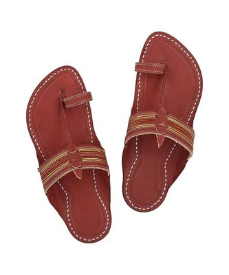Cherry Red Men Sandals