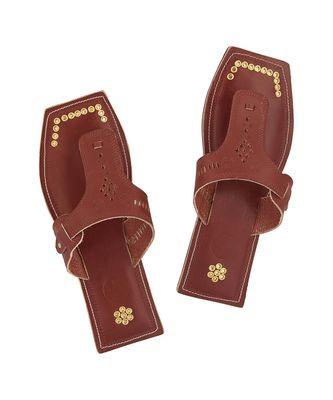 Red Brown Men Sandals