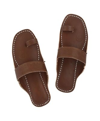 Wooden Brown Men Sandals