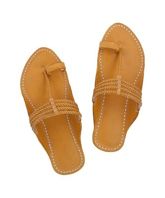 Dark Yellow Men Sandals