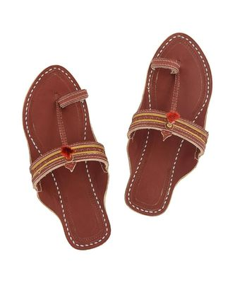 Red Brown Women Sandals