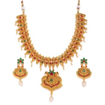 Yellow diamond necklace-sets