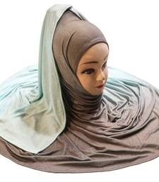 Justkartit Women'S Daily Wear Imported Jersey Stretchable 2 Shade Hijab Scarf Dupatta