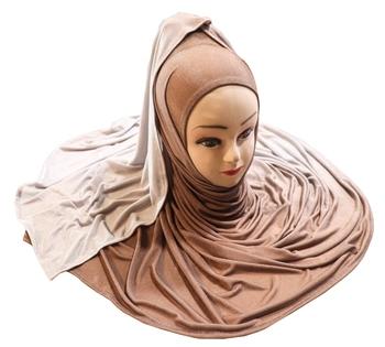 Justkartit Women'S 2 Shade Jersey Stretchable Party Wear Hijab Scarf Dupatta