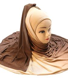 Justkartit Women'S Daily Wear 2 Shade Jersey Stretchable Material Hijab Scarf Dupatta