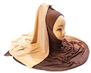 Justkartit Women's 2 Shade Jersey Stretchable Material Hijab Scarf Dupatta