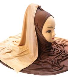 Justkartit Women's 2 Shade Jersey Stretchable Material Hijab Scarf Dupatta