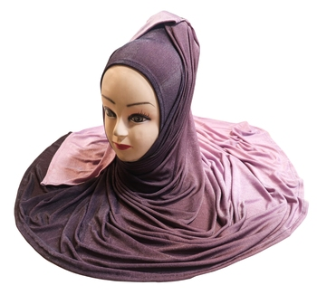 Justkartit Women'S Jersey Stretchable Material 2 Shade Hijab Scarf Dupatta