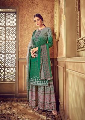 Green digital print cotton salwar