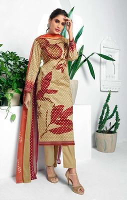 Olive digital print silk salwar