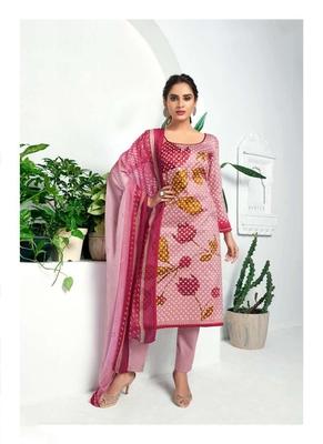 Pink digital print silk salwar