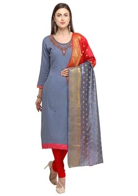 Grey beads cotton salwar
