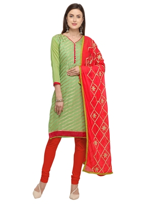Green jacquard banarasi silk salwar