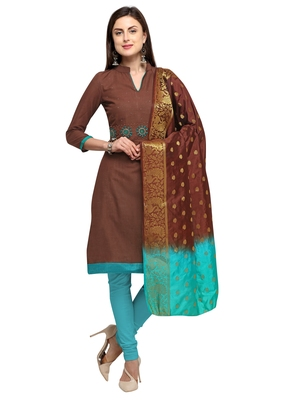 Brown beads cotton salwar