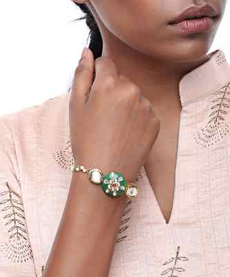 Kundan and Stone Bracelet