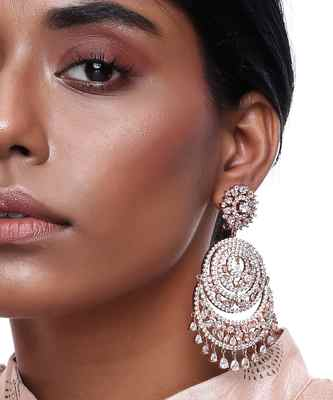 Rose Gold Chand Earrings