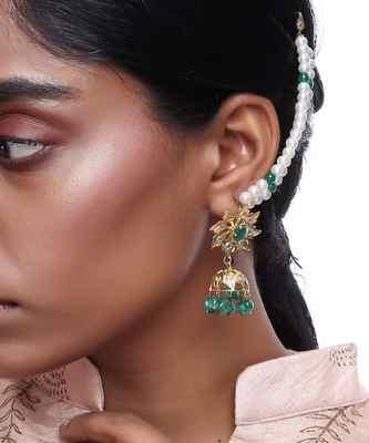 Jadau Earrings with Ear Chain