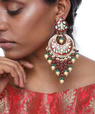 Chand Meenakari Earrings