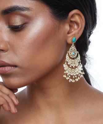 Turq Jaali Earrings
