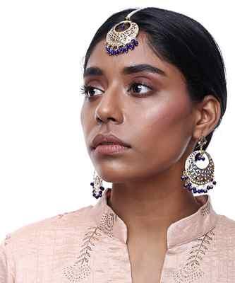 Jadau Earrings & Teeka Set