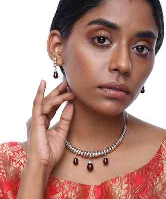 Diamond Neckpiece with Earrings