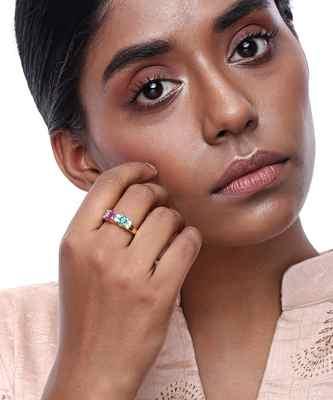 Diamond and Stone Ring