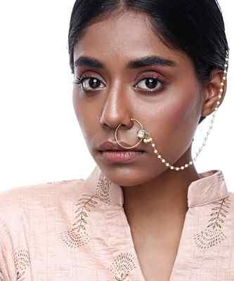Kundan Nose Ring