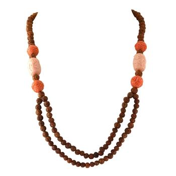 Orange agate necklaces