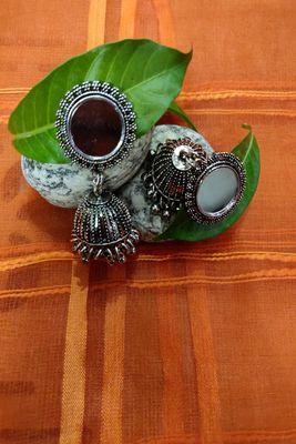 Silver  plain Jhumkas