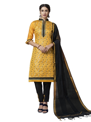 Yellow Banarasi Chanderi Salwar