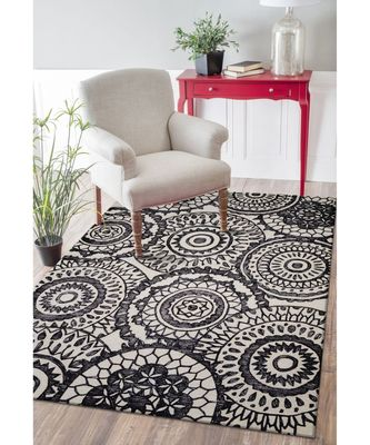 RANGOLI DESIGN HAND TUFTED AREA RUG  IN SIZE 63 X 90 INCH