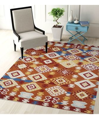 KILIM DESIGN PATTERN ARE RUGS IN HAND TUFTED CARPET IN SIZE 60 X 96 INCH