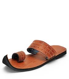 Men's Brown Handmade Indian ancient Sandals, Summer slide comfortable flip flops