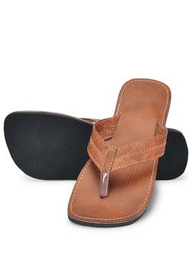 Brown Handmade Indain Synthetic Leather Flip Flops Sandals For Men