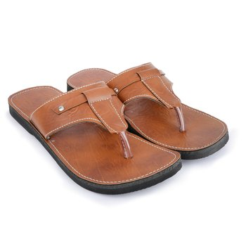 Handmade brown synthetic leather Sandals for Men, Boho Hippie Shoes