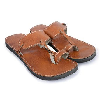 Men's brown Synthetic leather handmade quality  sandals