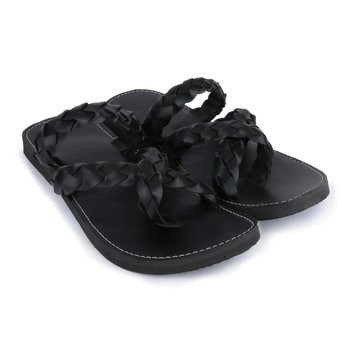 Men's Indian gladiator synthetic Leather black Sandals